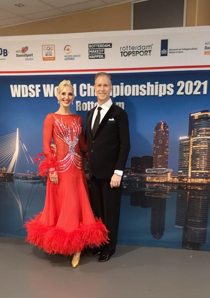 Helena Krauter und Hendrik Claaßen bei den WDSF Weltmeisterschaften 2021 in Rotterdam